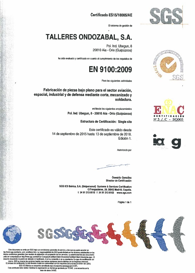 ISO 9100:2009